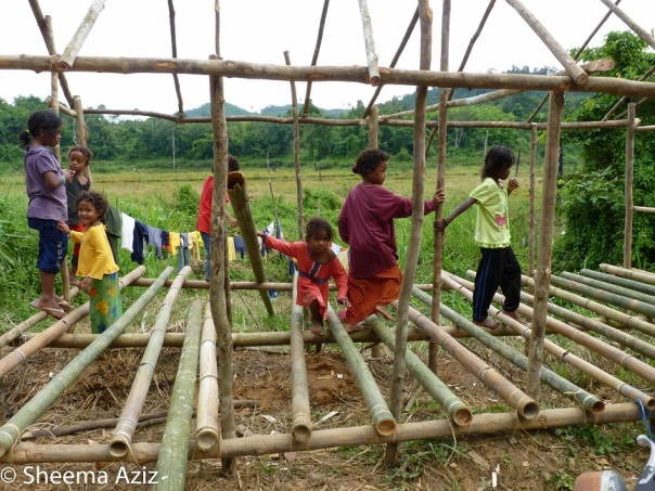 Temiar children playing in RPS Banun, an Orang Asli resettlement in the Belum-Temengor Forest Complex.