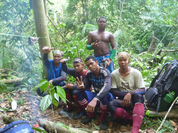 Happy to do what they do - our indomitable indigenous field assistants in the Core Area